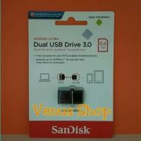 TERLARIS SANDISK ULTRA DUAL USB DRIVE OTG 64GB USB 3 0 130MB S TI133