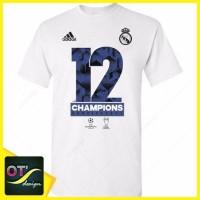 Kaos Real Madrid Duodecima Liga Champions 2017 Juara Champion Winner