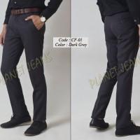 Celana Kerja Bahan kain Slimfit Pria / Formal Cowok Slim fit CF1-DG