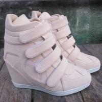 sneaker wedges sepatu wanita nike adidas kickers heels boot platform