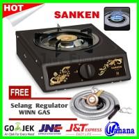 Paket Kompor Gas Sanken 1Tungku SG-220T + Selang Regulator Winn Gas
