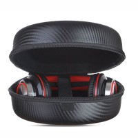 Headphone Hard Case Portable EVA Carbon Fiber TPU