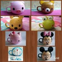 Jual Mug/Gelas Karakter Doraemon / hello kitty / Mickey Minnie / Mug Disney Murah