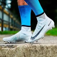 Sepatu Bola Nike Mercurial Superfly V Ronaldo FG White Blue