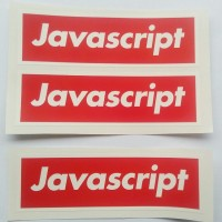harga Stiker Javascript Merah - Vinyl Cut Tokopedia.com