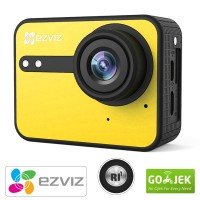 EZVIZ S1C Action Cam 1080P HD Touch Screen Garansi Resmi - Yellow