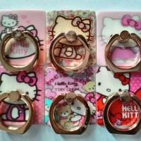 Ring Stand Plastik Gambar Hello Kitty /Cincin HP Plastik Gambar/ iRing