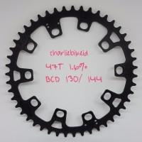 Chainring DOVAL 47T Low Ovality 1 6 persen Narrow Wide BCD130 atau 1
