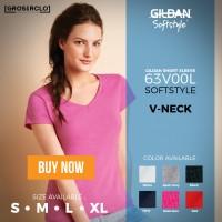 Jual Kaos Polos Gildan V Neck Ladies Cewek 63V00L Import Original Murah Murah