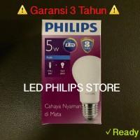Jual Lampu Bohlam LED Philips 5 Watt Putih/Cool Day Light (5W 5 W 5Watt) Murah