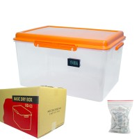 Drybox 40x28x20 cm with thermometer hygrometer monitor