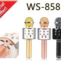 Mic WS 858 New Versi Wireless Bluetooth Karaoke Microphone Speaker KTV