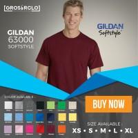 Jual kaos baju gildan softstyle 63000 original murah S M L XL Murah