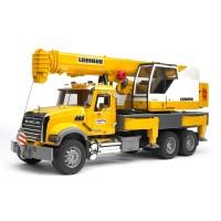Bruder 2818 - MACK Granite Liebherr Crane Truck - Mainan Anak