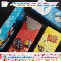 Grosir - Kotak Tempat Pensil Rakit Anak Karakter MIX (Cowo & Cewe)