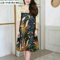 Dr1083 etnik dress batik brokat jumbo big size