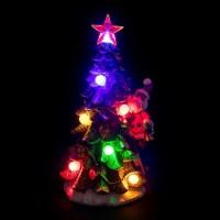 Jual Pajangan Pohon Natal Santa Lampu LED + Musik Kado Santa Sinterklas Murah