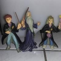 Harry Potter Figure Statue Set Dumbledore, Hermione, Ron Weasley