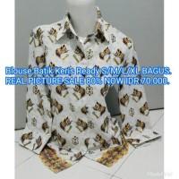 harga Blouse Kemeja Kantor Wanita Batik Keris Murah Banget Sale 80% Tokopedia.com