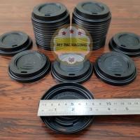 Tutup Paper Cup 8oz - Putih atau Hitam isi 50pcs/pack