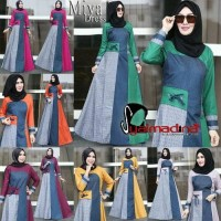 Miya Dress by Syalmadina | Gamis Dress Hijabers Cantik Kekinian