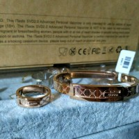 Gelang set Cincin Gucci stainless super premium