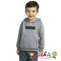 Jaket Hoodie Sweater Ramones Untuk Anak Usia 6-9 Tahun