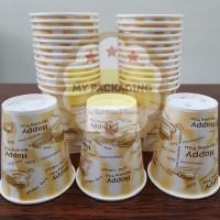 Paper Cup 8oz /Gelas Kopi Kertas - MOTIF (TANPA TUTUP) isi 50pcs/pack