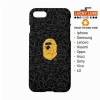 case samsung j2 j3 j5 j7 a5 s8 iphone 4 5 6 7 plus Bape A BATHING APE
