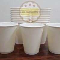 Paper Cup 8oz /Gelas Kopi Kertas - Plain (TANPA TUTUP) isi 50pcs/pack