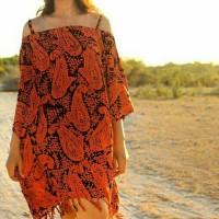 Jual back in stock bohemian dress Murah