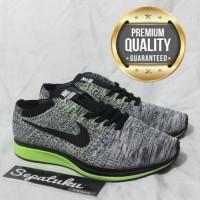 Sepatu Nike Flyknit Racer Grey Volt Black - Premium Quality