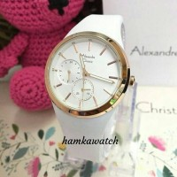 new!!! jam tangan wanita Alexander Cristie Original ac2663 white