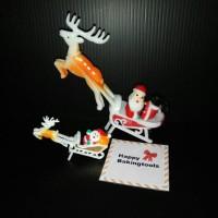 harga Topper Rusa Santa Mini, Hiasan Kue Natal, Topper Christmas Cake Tokopedia.com