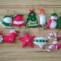 Jual Hiasan Pohon Natal Flanel Set 12 pcs Murah