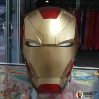 Helm Iron Man Mark XLVI 46 Cosplay | Ironman Helmet Open Face Wearable