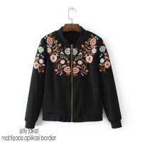 harga Lk08 Jelly Jaket  Flece Bordir (jaket Bomber,jacket Wanita,sweater,jak Tokopedia.com