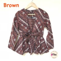 PROMO Baju Batik Modern Wanita / Batik Lengan Panjang / Batik Kantor