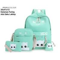 Harga grosir tas ransel anak sekolah sd laki perempuan 4in1 cat murah | Pembandingharga.com