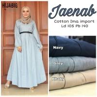 Baju Gamis Long Dress Maxi Wanita Muslim katun ima polos jaenab XL