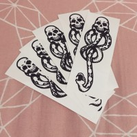 Tato Temporer Harry Potter Death Eater Dark Mark Temporary Tattoo