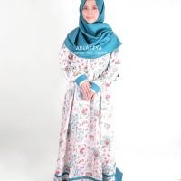 Grosir Dress Gamis Syari Romantic Garden Tosca Murah