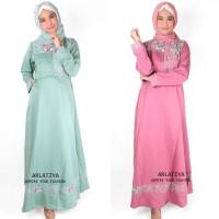 Jual Grosir Dress Gamis Balotelli Brokat Shakila Murah M, L, XL Murah