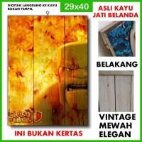 Poster Clash of Clans 4 COC04 Kayu Vintage Asli Dinding Rumah/kafe