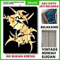 Poster Sepultura 7 SPT07 Kayu Vintage Asli Dinding Rumah/kafe
