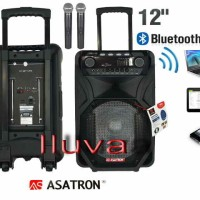 harga Speaker Portable Amplifier Wireless Asatron Bluetooth -12 Inchi Murah Tokopedia.com