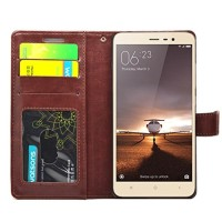 Leather Kulit FLIP COVER WALLET Xiaomi Redmi Note 4/ Note 4X Case HP