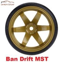 Jual Ban + Velg RC Drift tyres 1/10 Austar Offset 6MM Brown Murah