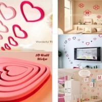Jual Hiasan dinding / 3D wall sticker / pajangan HB01 Murah