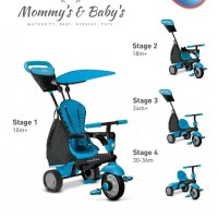 Smart Trike Glow Touch Steering 4 in 1 Tricycle Blue